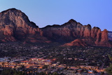 Twilight in Sedona  Arizona  United States of America  North America