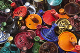 Colourful Tajines  Essaouira  Atlantic Coast  Morocco  North Africa  Africa