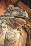 Lion Statue  Durbar Square  Patan  UNESCO World Heritage Site  Kathmandu  Nepal  Asia
