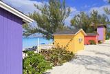 Cabana on Half Moon Cay  Little San Salvador Island  Bahamas  West Indies  Central America