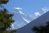 View to Mount Everest and Lhotse from the Trail Near Namche Bazaar  Nepal  Himalayas  Asia