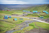 Camping Cabins and Scenery at Kerlingarfjoll  Interior Region  Iceland  Polar Regions
