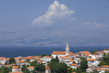 View of Town with Mainland in Background  Postira  Brac Island  Dalmatian Coast  Croatia  Europe