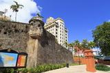 Paseo De La Princesa in Old San Juan  Puerto Rico  West Indies  Caribbean  Central America