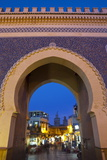Bab Boujeloud Gate (The Blue Gate)  Fes  Morocco  North Africa