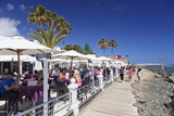 Cafes at the Playa De Maspalomas  Maspalomas  Gran Canaria  Canaty Islands  Spain  Atlantic  Europe