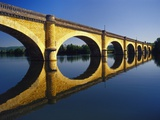 Bridge over the Dordogne River  Aquitaine  France