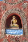 Buddha Offerings in Wall Niche