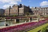 Kensington Palace Gardens with Tulips  Kensington Gardens  London  England  United Kingdom  Europe