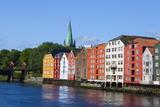 Nidaros Cathedral  Old Fishing Warehouses and Gamle Bybro  Trondheim