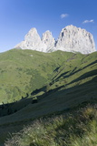 Peaks of the Sassolungo  Dolomites  Italy