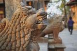 Lion Statues Outside Gorakhnath Temple at Pashupatinath Temple