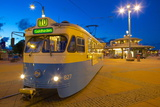 City Trams at Dusk  Drottningtorget  Gothenburg  Sweden  Scandinavia  Europe