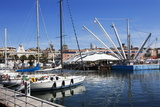Boats and the Bigo at the Old Port in Genoa  Liguria  Italy  Europe