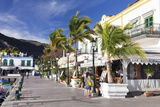 Promenade with Restaurants and Cafes  Puerto De Mogan  Gran Canaria  Canary Islands  Spain  Europe