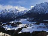 Village of Ftan in the Alps  Engadin  Switzerland