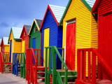Beach Huts  Fish Hoek  Cape Peninsula  Cape Town  South Africa  Africa
