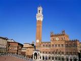 Torre Del Mangia  Piazza Del Campo  Tuscany  Italy