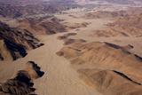 Aerial  Skeleton Coast Park  Namibia  Africa
