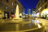 Corso Como at Dusk  Milan  Lombardy  Italy  Europe