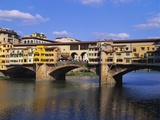 Ponte Vecchio over the River Arno  Florence  Italy