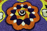 Floral Decorations During Onam Festival  Kerala  India  Asia