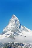 Paraglider Flying Near the Matterhorn  4478M  Zermatt  Valais  Swiss Alps  Switzerland  Europe