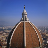 Elevated View of the Roof of the Duomo and Cityscape  Florence  Tuscany  Italy