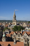 Cityscape from University Church  Oxford  Oxfordshire  England  United Kingdom  Europe