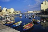 Boats Moored in Saint Julians Bay  Malta