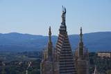 Spire  Sienna  Tuscany  Italy  Europe