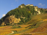 Hill Village of Chateau Chalon in the Jura  Franche Comte France