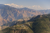 Gangotri Mountains  Garwhal Himalaya  Seen from Mussoorie Hill Station  Uttarakhand  India  Asia