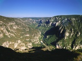 Valley in Lozere  Languedoc-Roussillon  France