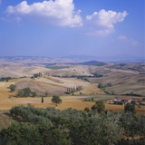 Elevated View of the Tuscan Countryside  Italy