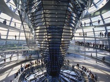 Interior of the Bundestag  Berlin  Germany