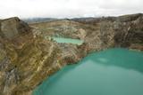 Multi-Coloured Crater Lakes at Summit of Kelimutu Volcano