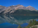 Reflection of the Rockies in Lake Bow  Banff National Park  Alberta  Canada
