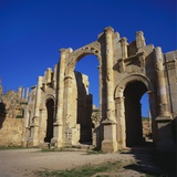 Jerash South Gate in Jordan  Dating from C130 Ad