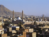 Cityscape of Sanaa  Yemen  Middle East