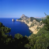 Sea and Cliffs by Cap De Formentor  Mallorca  Spain
