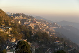 View South from Mussoorie in Evening Light on Foothills of Garwhal Himalaya