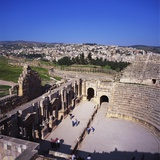 Ancient Roman Oval Forum  Jerash  Decapolis  Jordan