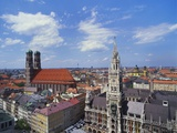 Elevated View of Frauenkirche  Munich  Germany