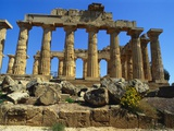 Ancient Greek Temple  Selinunte  Sicily