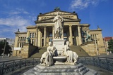 Statue of Friedrich Schiller and the Schauspielhaus  Gendarmenmarkt  Berlin  Germany