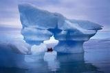 Sculpted Iceberg  Spitsbergen  Svalbard Archipelago  Norway  Scandinavia  Europe