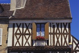 Building Exterior in the Village of Chablis  Burgundy  France