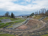 Amphitheatre  Augusta Raurica Roman Ruins at Kaiseraugst  Basel Land  Switzerland  Europe