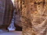 Tourists at Petra  Jordan  Middle East